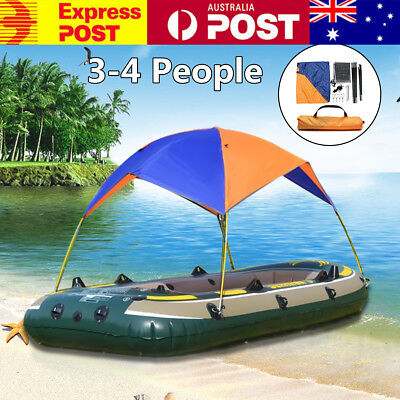 AU 3-4 Person Inflatable Boat Sun Shelter Foldable Awning Fishing Tent Sunscreen