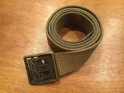WWII US Army Khaki Field Combat Web Webbing Belt 34 inches