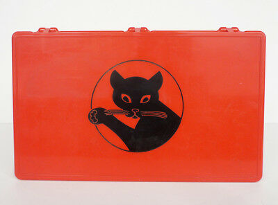 Vintage 60's Cat's Paw Heel Tips Store Counter Display Case Box Shoe Boot