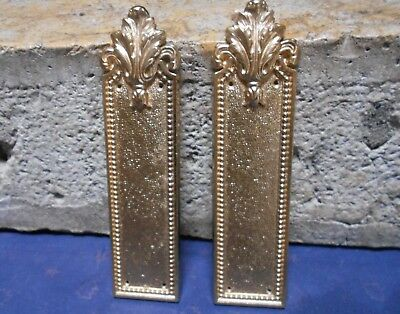 Pair of Vintage  FRENCH gilted BRASS  Backplates / PUSH PLATES  & LOUIS XV