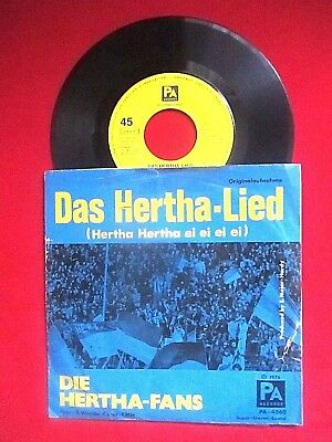 "Hertha Bsc - ""das Hertha-Lied"" - Vinyl-Single´45  1975 Pa Records"