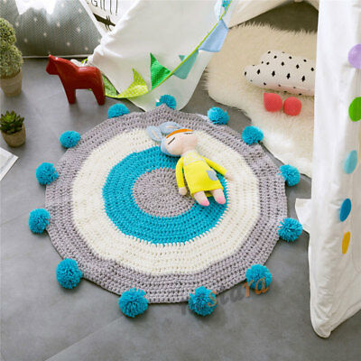 80CM Baby Kids Home Play Blanket Bedroom Floor Mat Knitted Mat Rug Carpet Props
