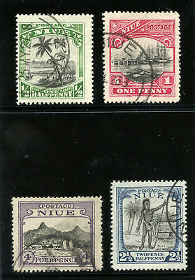 Niue 1925 KGV set complete very fine used. SG 44-47. Sc 41-44.