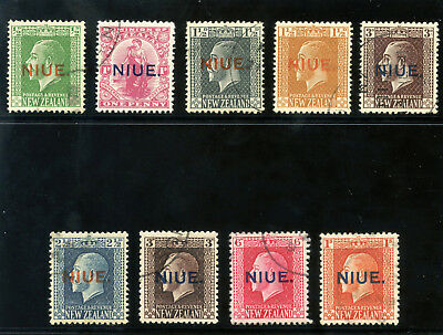 Niue 1917 KGV set complete very fine used. SG 23-31a. Sc 21-29.