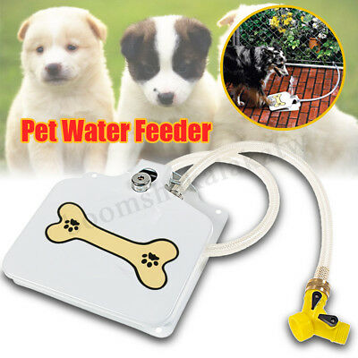 Dog Sprinkler Paw Press Automatic Water Drinking Fountain Dispenser Step Spray