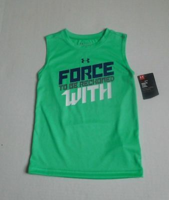 NWT Boys Under Armour ~ Force To Be Reckoned With ~ Sport Shirt sz 2t 3t 4t