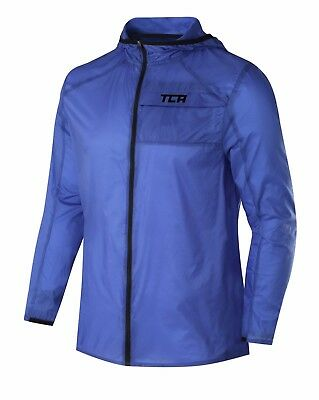 TCA Airlite Shower Proof Mens Running Jacket - Blue