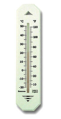 Wall Thermometer By Brannan Hanging Thermometre Up To 120°F / 50°C