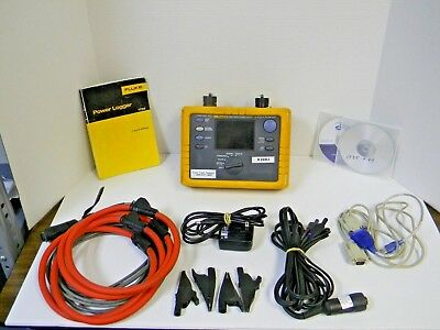 Fluke 1735 Power Logger W/ Nist Calibration, Leads, Case, Software, Manual Rd