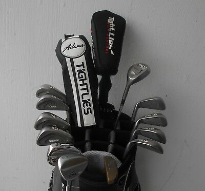Complete Set Men's Rh Adams Wilson Golf Clubs Driver Fwys Iron Set Wedges Puttr!