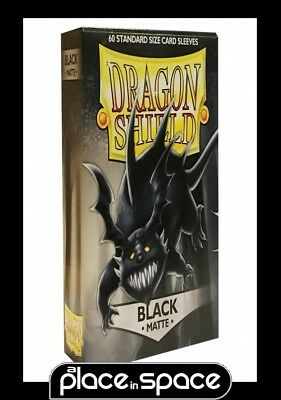 60 X Dragon Shield Standard Size Trading Card Sleeves - Black Matte (1 Pack)