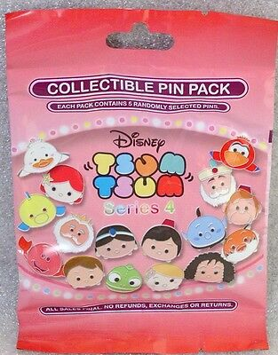 Disney Pin Collectible TSUM TSUM SERIES 4  Mystery Pack SEALED Set of 5 NEW