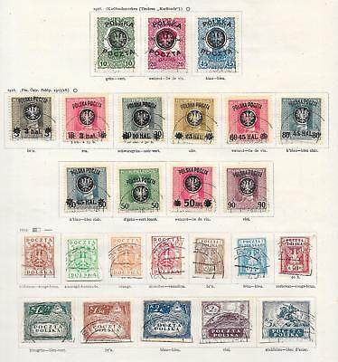 Poland stamps 1918 Collection of 25 stamps CANC VF HIGH VALUE!