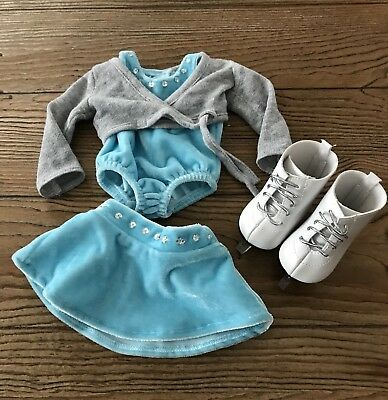 """American Girl Doll Ice Skating Outfit With Skates EUC! Fits 18"""" Doll."""