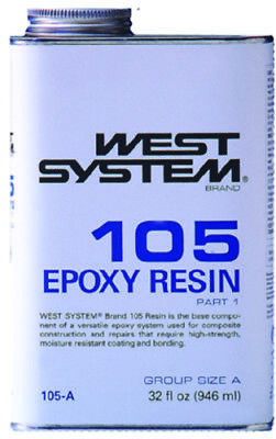 Boat Marine West System Epoxy Resin Part 1 Clear Low Viscosity Resin Quart 105A