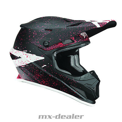 2019 Thor MX Sector Hype Schwarz Coral Helm Crosshelm MX Motocross Cross Quad