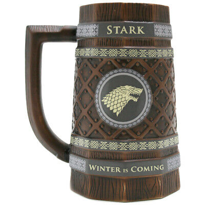 Game of Thrones House Stark Embossed Collectable Stein (BOXED) NEW