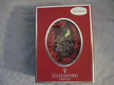 WATERFORD CRYSTAL 2011 CHRISTMAS TREE Ornament NEW in Box WITH ENHANCER