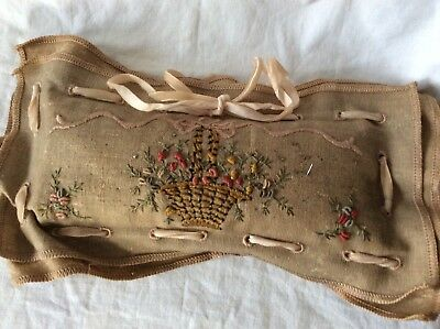 Vintage embroidered pin cushion -very unique