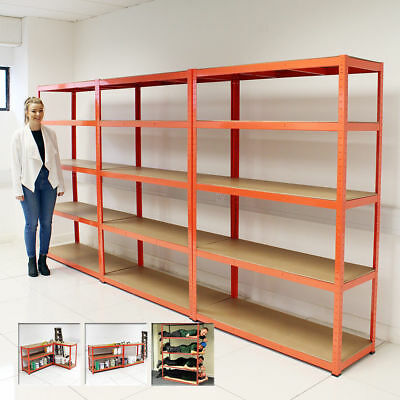 3 Pack Extra Wide 120Cm 5 Tier Heavy Duty Boltless Industrial Racking Storage