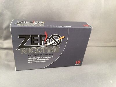 NIB Zero Nicotine Anti-Smoking Patches Stop Smoking Naturally  30 patches