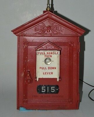Antique Game Well Fire Alarm Station Box Cast Iron Herculite Gamewell Box 515