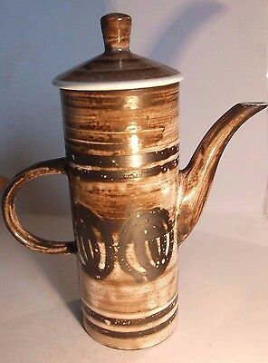 Rye Pottery Vintage Coffee Pot With Free Gift Of Pg Tips Monkey -Free Uk Postage