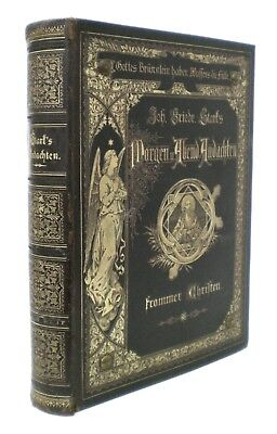 Neat Antique German Religious Book Morning Evening Devotions by J. F. Stark 1879