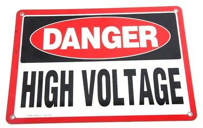 Box Of 12 New Danger High Voltage Signs Pd102859