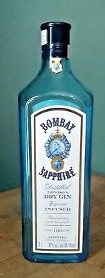 Bombay Sapphire Gin 1 Liter Empty Bottle With Cap