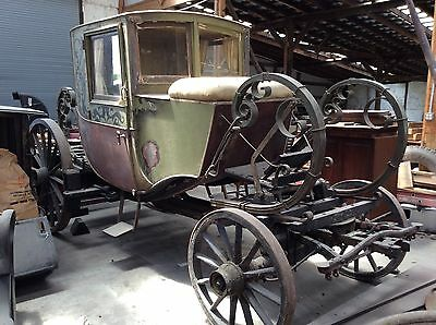 King Louie Xl Style Horse Drawn Seated Sleigh Buggy Wagon Carriage Cart Antique