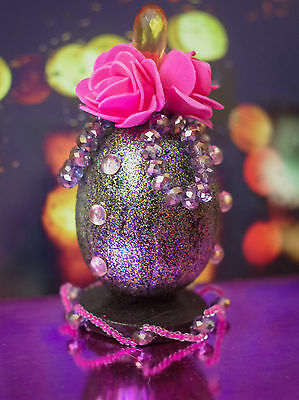 HANDCRAFTED pearl BEADED EGG Crystal Unique gift souvenir HANDMADE home decor