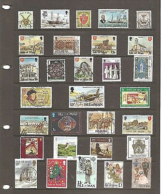 Gb  Isle Of Man  Collection Of 30  Fine Used  Stamps     (A)