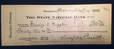 1929 MAXFIELD PARRISH Handwritten & Signed Check to friend/model George Ruggles