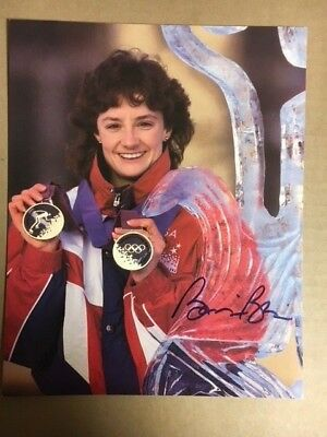 Bonnie Blair Olympic Skater Signed Autographed 8 x 10 Photograph with COA