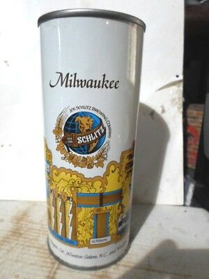 """Schlitz 16 Ounce Bank Style Top -""""""""milwaukee""""""""- Straight Steel Beer Can"""