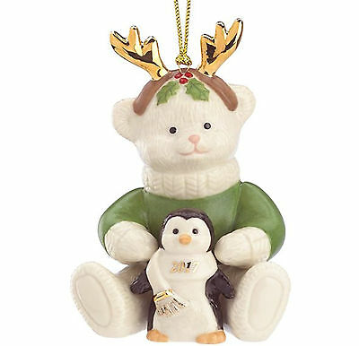 Lenox 2017 Teddy's Penguin Pal Ornament