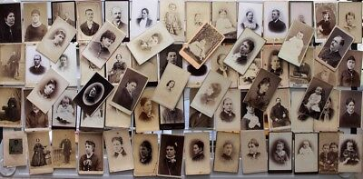 Huge Lot of 70 Antique CDV Photos and 28 Cabinet Cards Great Assortment!