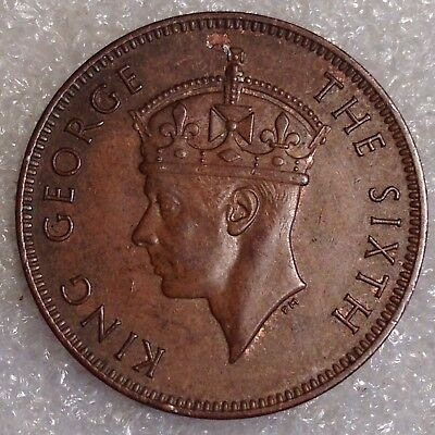 Seychelles 2 Cents 1948 Great Bronze Coin!