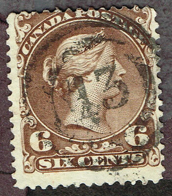 "Canada Large Queen #27 ""13"" 2-Ring Cancel Fine    (Ocr17"