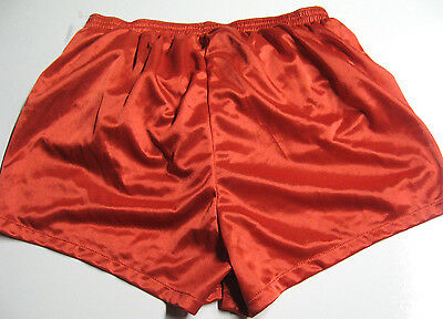 Vintage 80's NEW old Stock PEPIN Thin Red nylon Running Shorts & Liner 40 Small