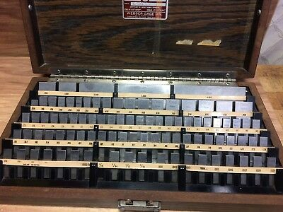 "Nice Starrett Webster Gage Block Set .1001 - 4 ""  Complete"