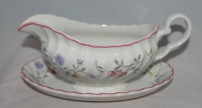 Johnson Brothers GRAVY BOAT unattached PLATE + xtra relish SUMMER CHINTZ floral