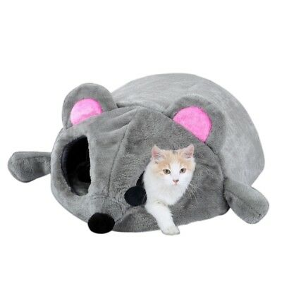 Pet Dog Cat Bed Puppy Mouse Shape House Kennel Blanket Washable Winter New US