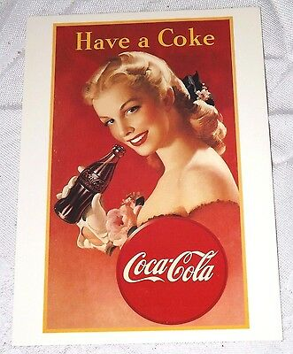 Postcard of a Coca-Cola 1948 Poster Have a Coke New Unposted