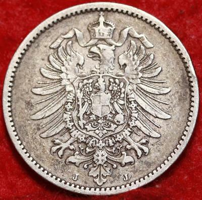 1875 Germany Mark Silver Foreign Coin