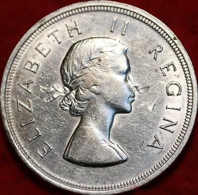 1956 South Africa 5 Shillings Silver Foreign Coin
