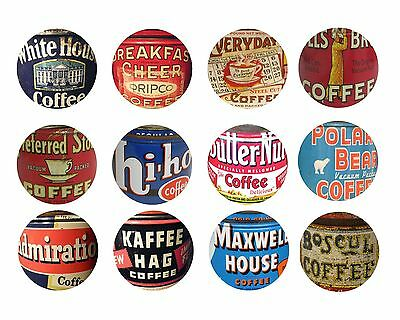 Vintage Coffee Can Kitchen Cabinet Drawer Knobs Pulls