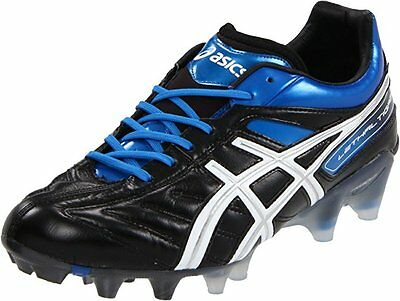 Asics Lethal Tigreor 4 IT Mens Soccer Cleats Shoes sz 10 NEW BLACK WHITE BLUE