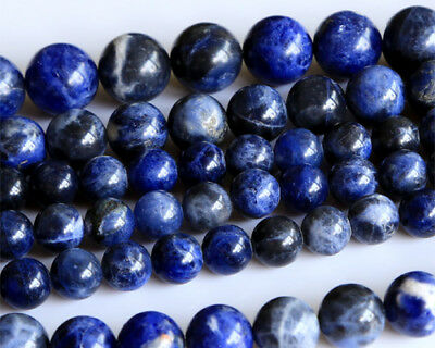 Wholesale Natural Genuine Blue Lace Stone Sodalite Round Loose Beads 4-14mm